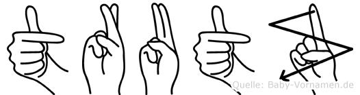 Trutz in Fingersprache für Gehörlose