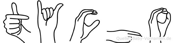 Tycho im Fingeralphabet der Deutschen Gebärdensprache