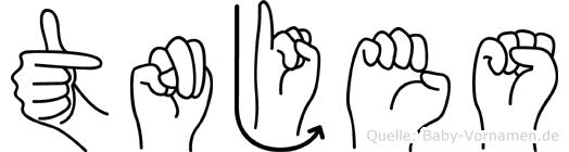 Tönjes im Fingeralphabet der Deutschen Gebärdensprache
