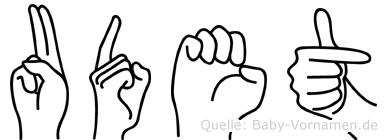 Udet in Fingersprache für Gehörlose