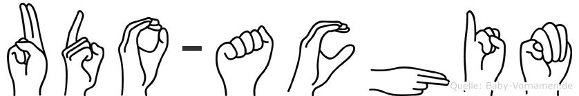 Udo-Achim im Fingeralphabet der Deutschen Gebärdensprache