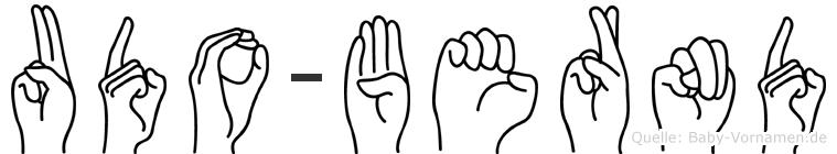Udo-Bernd im Fingeralphabet der Deutschen Gebärdensprache