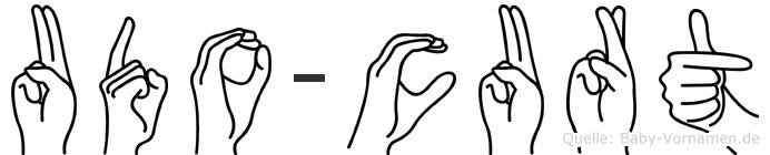 Udo-Curt im Fingeralphabet der Deutschen Gebärdensprache