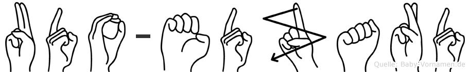 Udo-Edzard im Fingeralphabet der Deutschen Gebärdensprache