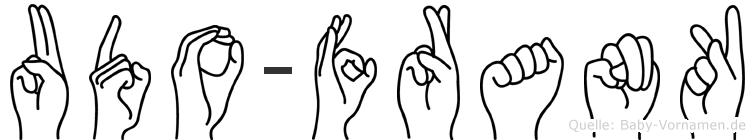 Udo-Frank im Fingeralphabet der Deutschen Gebärdensprache