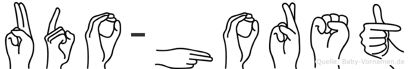 Udo-Horst im Fingeralphabet der Deutschen Gebärdensprache
