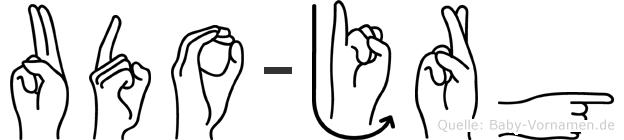 Udo-Jörg im Fingeralphabet der Deutschen Gebärdensprache