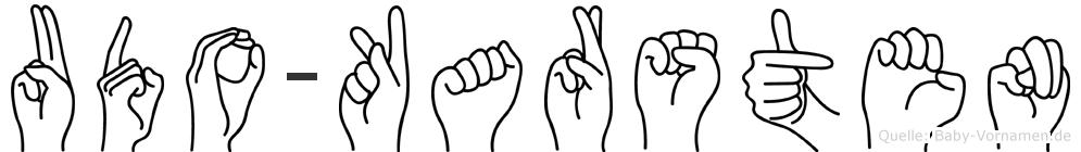 Udo-Karsten im Fingeralphabet der Deutschen Gebärdensprache