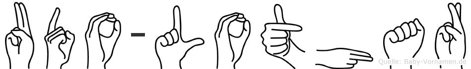 Udo-Lothar im Fingeralphabet der Deutschen Gebärdensprache