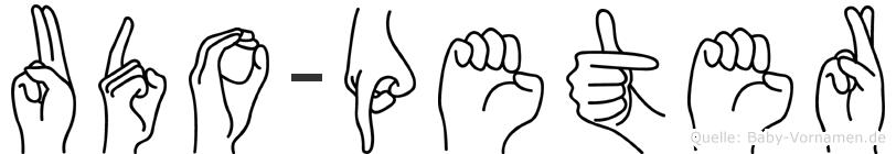 Udo-Peter im Fingeralphabet der Deutschen Gebärdensprache