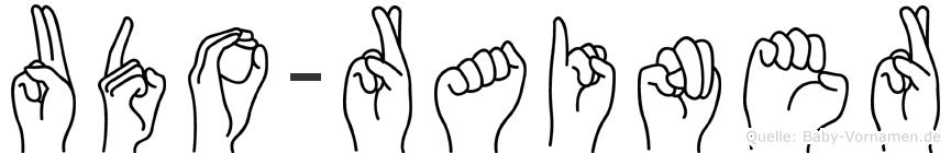 Udo-Rainer im Fingeralphabet der Deutschen Gebärdensprache