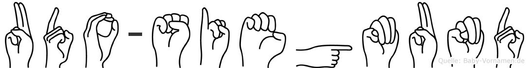 Udo-Siegmund im Fingeralphabet der Deutschen Gebärdensprache