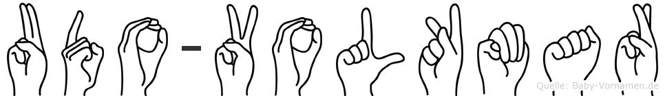 Udo-Volkmar im Fingeralphabet der Deutschen Gebärdensprache