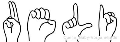 Ueli in Fingersprache für Gehörlose