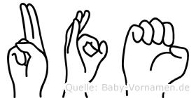 Ufe in Fingersprache für Gehörlose