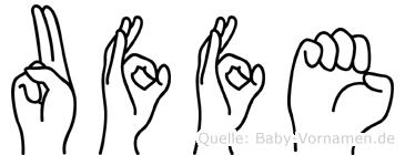 Uffe in Fingersprache für Gehörlose