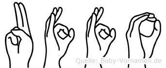 Uffo in Fingersprache für Gehörlose