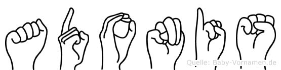 Adonis im Fingeralphabet der Deutschen Gebärdensprache