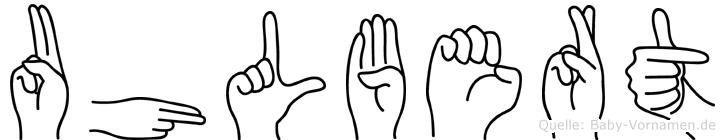 Uhlbert in Fingersprache für Gehörlose
