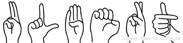 Ulbert in Fingersprache für Gehörlose