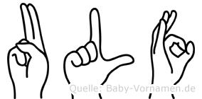 Ulf in Fingersprache für Gehörlose