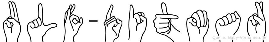 Ulf-Ditmar im Fingeralphabet der Deutschen Gebärdensprache