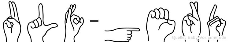 Ulf-Gerd im Fingeralphabet der Deutschen Gebärdensprache