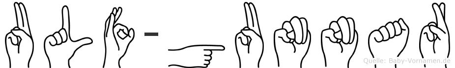 Ulf-Gunnar im Fingeralphabet der Deutschen Gebärdensprache