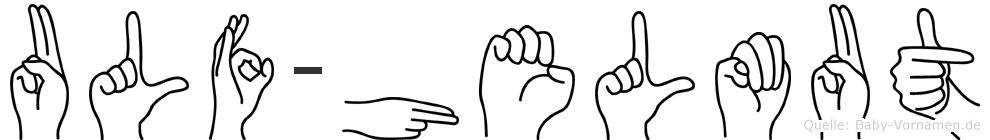 Ulf-Helmut im Fingeralphabet der Deutschen Gebärdensprache