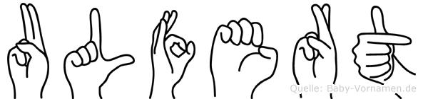 Ulfert in Fingersprache für Gehörlose
