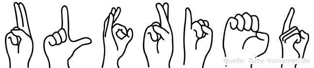 Ulfried in Fingersprache für Gehörlose