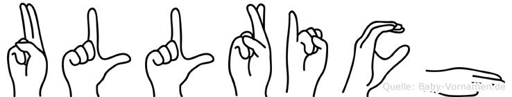 Ullrich in Fingersprache für Gehörlose