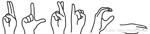 Ulrich in Fingersprache für Gehörlose