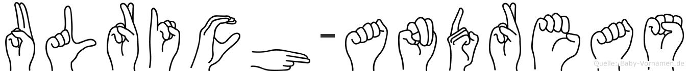 Ulrich-Andreas im Fingeralphabet der Deutschen Gebärdensprache