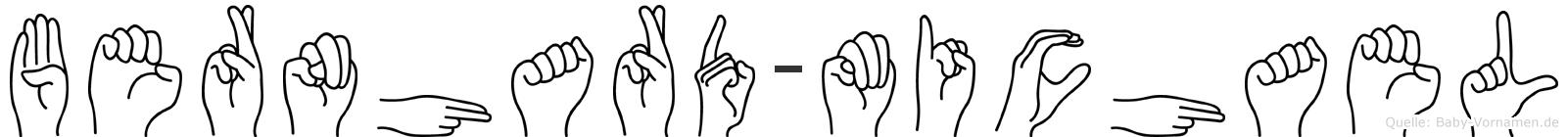 Bernhard-Michael im Fingeralphabet der Deutschen Gebärdensprache