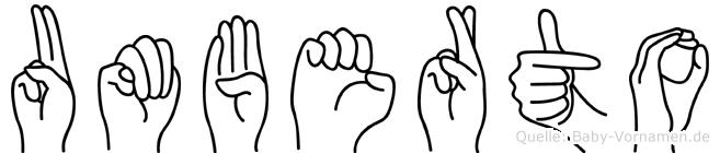 Umberto in Fingersprache für Gehörlose