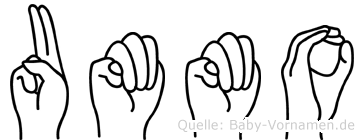 Ummo in Fingersprache für Gehörlose