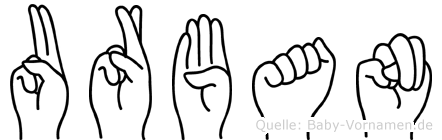 Urban in Fingersprache für Gehörlose