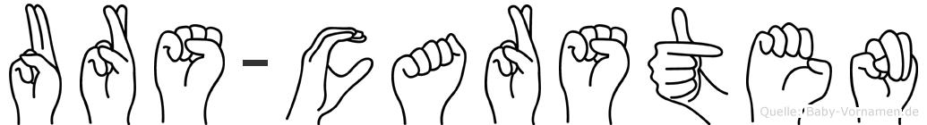 Urs-Carsten im Fingeralphabet der Deutschen Gebärdensprache