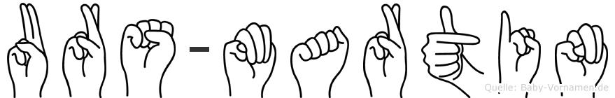 Urs-Martin im Fingeralphabet der Deutschen Gebärdensprache