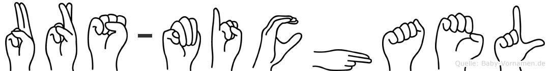 Urs-Michael im Fingeralphabet der Deutschen Gebärdensprache