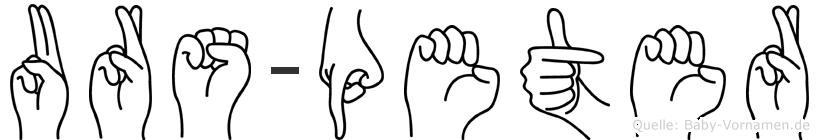 Urs-Peter im Fingeralphabet der Deutschen Gebärdensprache
