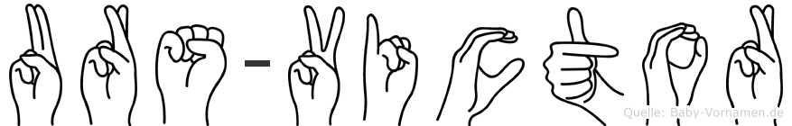Urs-Victor im Fingeralphabet der Deutschen Gebärdensprache