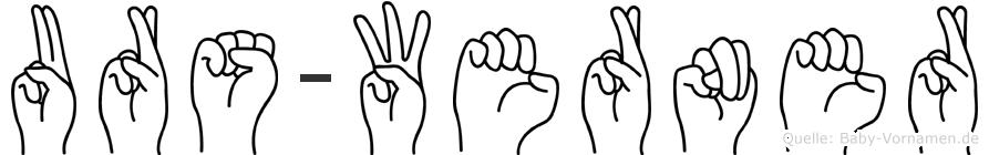 Urs-Werner im Fingeralphabet der Deutschen Gebärdensprache