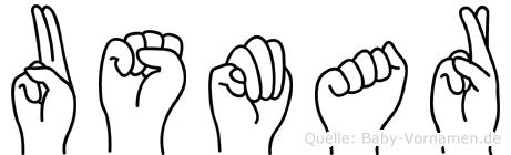 Usmar im Fingeralphabet der Deutschen Gebärdensprache