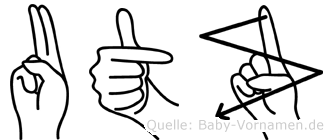 Utz in Fingersprache für Gehörlose