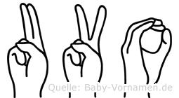 Uvo in Fingersprache für Gehörlose