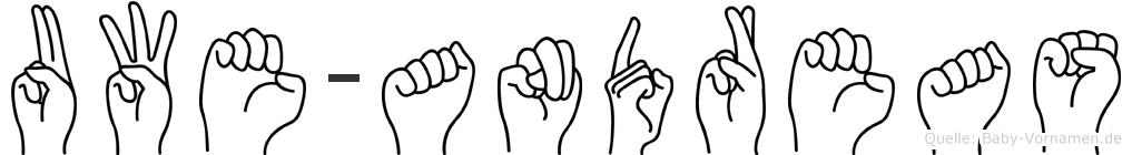 Uwe-Andreas im Fingeralphabet der Deutschen Gebärdensprache