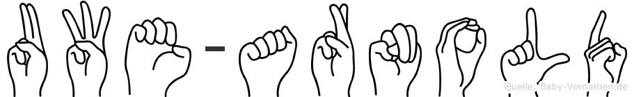 Uwe-Arnold im Fingeralphabet der Deutschen Gebärdensprache