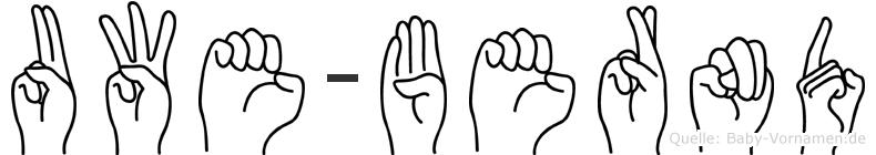 Uwe-Bernd im Fingeralphabet der Deutschen Gebärdensprache